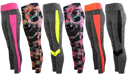 Printed Contrast Active Leggings