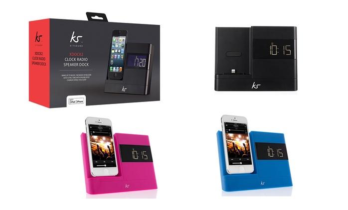 1 ou 2 enceintes Dock/Radio Bluetooth - Kitsound, coloris au choix dès 39,98€ (jusqu'à 50% de réduction)