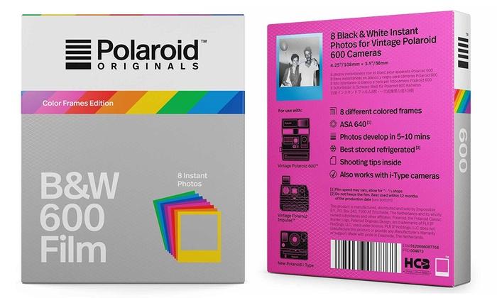 Polaroid Originals Color Frames B&W Film 600 (8 Sheets