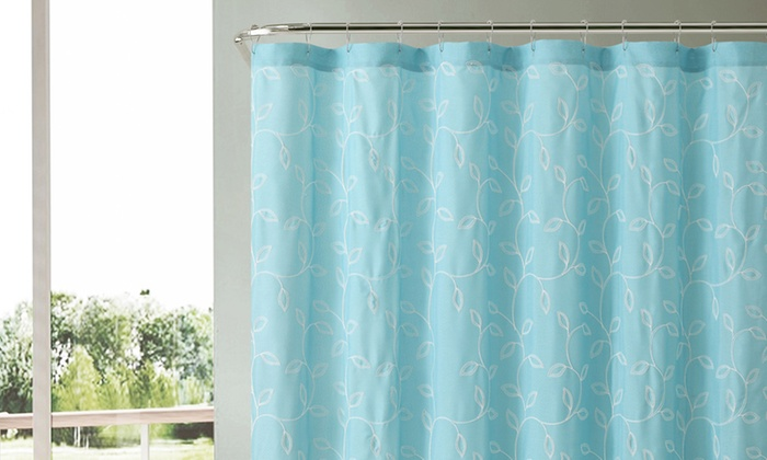 Embroidered Shower Curtain
