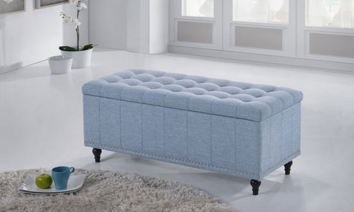 Up To 34 Off On Kaylee Upholstered Ottoman Bench