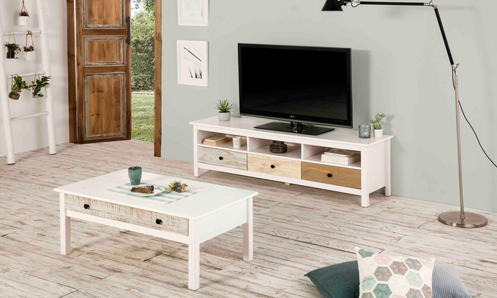 Tv Kast Salon Tafel.Tot 60 Op Salontafel En Tv Meubel Betty Groupon Producten
