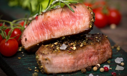 8oz Sirloin Steak with Chips, Sauce and Small Bottle of Prosecco for Two or Four at 5* The Manor Hotel (Up to 64% Off)