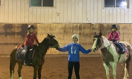 30-Minute Private or Group Horseback-Riding Lessons at La Fleur Stables (Up to 50% Off). Four Options Available.