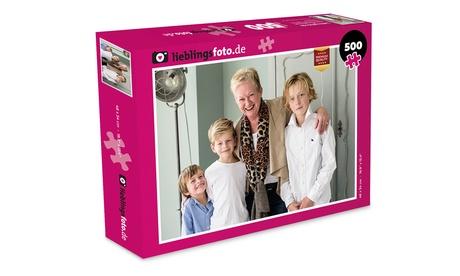 PersonalisiertesFoto-Puzzle Deluxe mit 500 oder 1000 Teilen und Schachtel von Lieblingsfoto