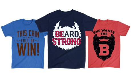 Men's Beard-Themed Short-Sleeve T-Shirts