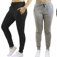 Groupon.com deals on Womens Skinny-Fit French Terry Jogger Sweatpants