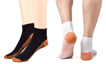 Copper-Infused Compression Crew Socks (3- or 6-Pairs)