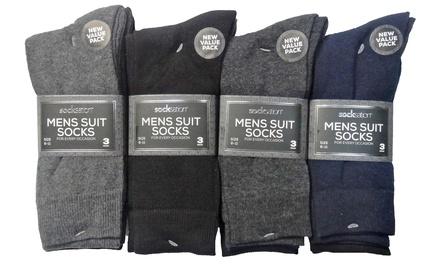 Pack de 6 o 12 pares calcetines de algodón para hombre