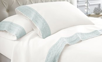 Crochet-Lace Microfiber Sheet Set (3- or 4-Piece)