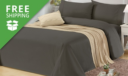 Free Shipping: for a 1200TC Egyptian Cotton Sheet Set in Choice of Colour Don't Pay up to $309