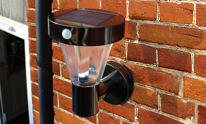 Super Up To 63 Off Nickel Smd Led Solar Wall Light Groupon Wiring Digital Resources Jebrpcompassionincorg