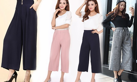 From $17.90 for a Pair of Wide Leg Trousers (worth up to $129.90). 3 Designs
