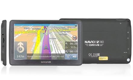 GoClever Navio 2 740 Navigationssystem GPS 7 Zoll 8 GB 1600 mAh  (Frankfurt)
