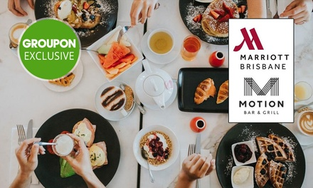 5* Sunday Brunch + Valet Parking for 1 ($39), 2 ($78), 4 ($156), 6 ($234) or 8 Ppl ($312) at Motion Dining (Up to $490)