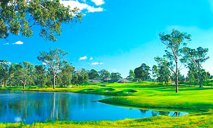 Camden Lakeside Golf Club - Catherine Field: $75 for 18 Holes of Golf with Cart Hire, Range Balls and Drink Voucher at Camden Lakeside Golf Club ($173 Value)