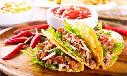 Tacos au choix à Volonté et dessert pour 1 ou 2 personnes dès 10,80€