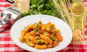 """ספגטים פ""""ת: ספגטים, פ""""ת: ארוחה איטלקית זוגית מלאה החל מ-109₪ בלבד! בתוקף גם בשבת ובחוה""""מ"""