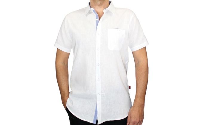 Harve Benard Men's Linen Cotton Shirts (Size L)