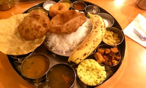 Sri Ananda Bhavan: South Indian Cuisine at Sri Ananda Bhavan (Up to 40% Off). Three Options Available.