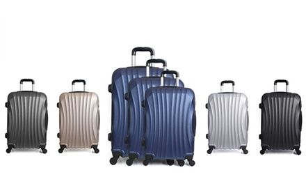 ThreePiece Moscou Trolley Suitcase Set with Luggage Scale With Free Delivery