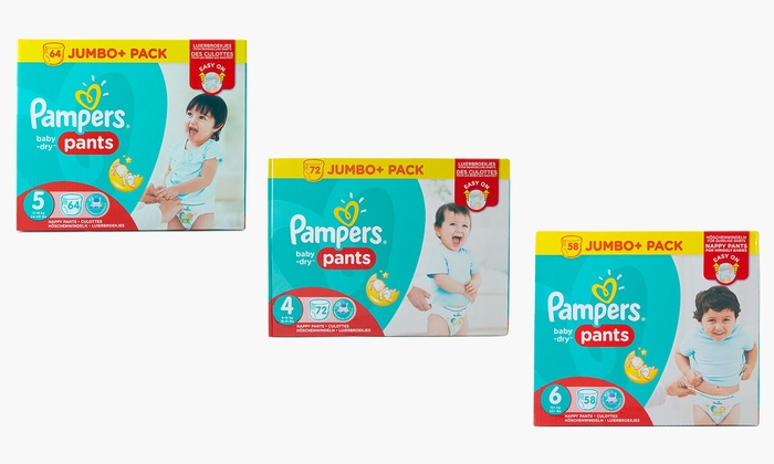 One or Two Packs of Pampers Baby Dry Nappy Pants from £14.15