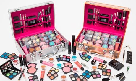 """54- oder 80-tlg. Make-up-Koffer """"Dawn Till Dusk"""" in Silber oder Roségold"""
