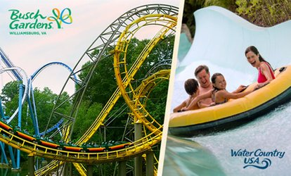 58% Off 3-Day Ticket- Busch Gardens Williamsburg/Water Country