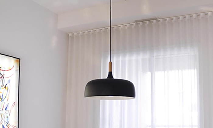 Bazz Single Light Matte Black Pendant Fixture