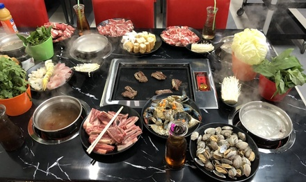 Patrons can enjoy ALL-YOU-CAN-EAT Chinese hot pot and Korean barbecue (Up to 40% Off). Four Options Available.