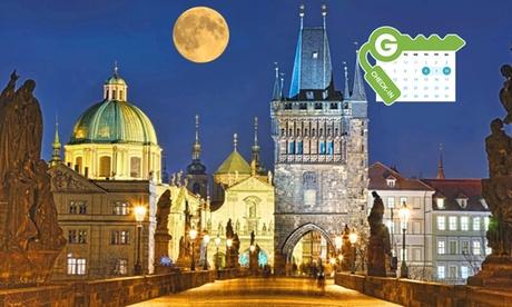 Praga: habitación doble para 2 personas con desayuno y agua en Design Merrion Hotel 4*