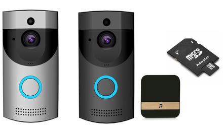 Smart Wi Fi Waterproof Video Doorbell with Chime and Optional 32GB SD Card With Free Delivery
