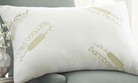 Merit Linens Premium Bamboo Memory Foam Pillow