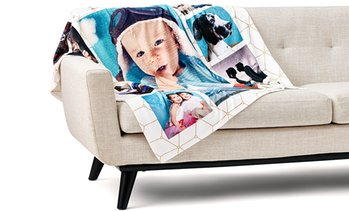 Up to 93% Off Custom Fleece Photo Blankets from Collage.com