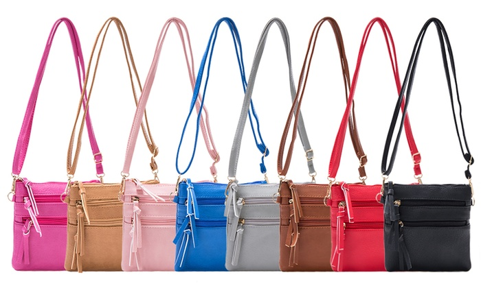 Linda Multi-Zipper Crossbody Bag