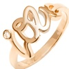 18K Gold Plated Love Ring with Cubic Zirconia Accent by Barzel