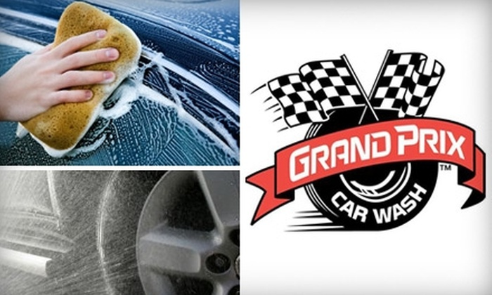 Grand Prix Car Wash - Multiple Locations: $49 for Six The Works Car Washes at Grand Prix Car Wash