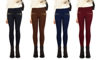 GROUPON: 3-Pack of Women's High-Waist Fleece Leggings 3-Pack of Women's High-Waist Fleece Leggings