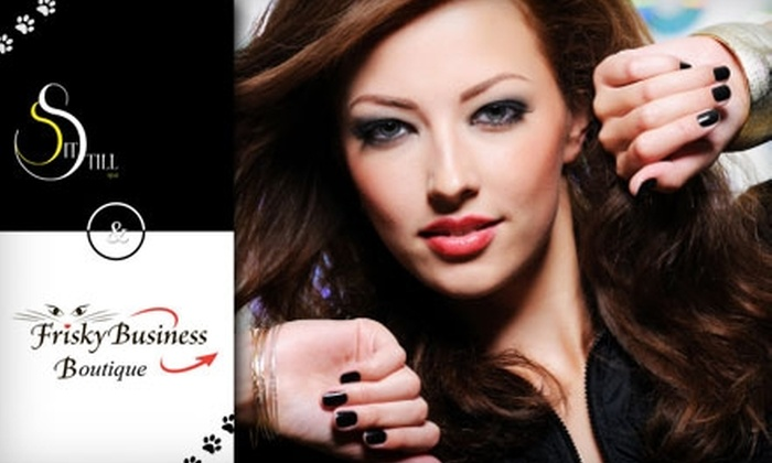 Sit Still Salon and Spa - Cliff Bungalow: $45 for a Cut and Style (Up to a $95 Value) or $62 for a Spa Mani-Pedi (a $125 Value) at Sit Still Salon and Frisky Boutique