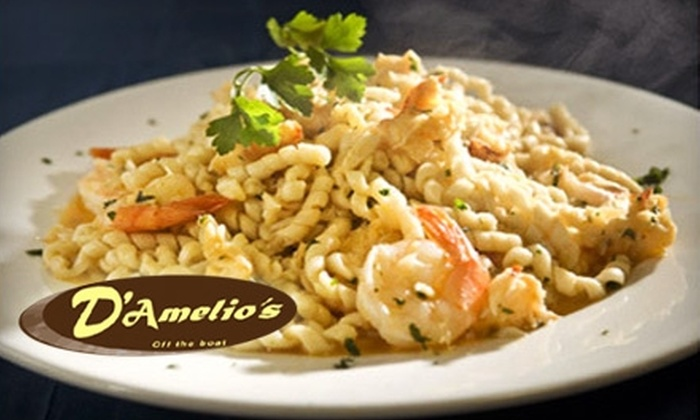 D'Amelio's Off the Boat Italian and Seafood - East Boston: $20 for $40 Worth of Italian Fare at D'Amelio's Off the Boat Italian and Seafood