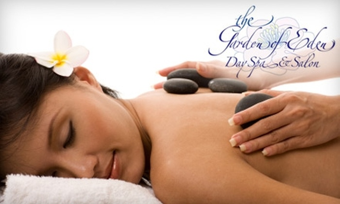 Garden of Eden Spa & Salon - Downtown: $45 for a Swedish Massage ($90 Value) or $50 for a Hot Stone Massage ($105 Value) at Garden of Eden Spa & Salon