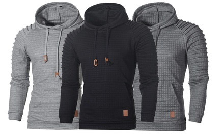 Mens Oscar Overhead Textured Hoodie in Choice of Colour and Size