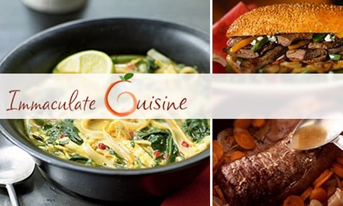 Immaculate Cuisine - Washington DC: $45 for Five Healthy, Home-Cooked Meals Delivered to You from Immaculate Cuisine ($90 Value)