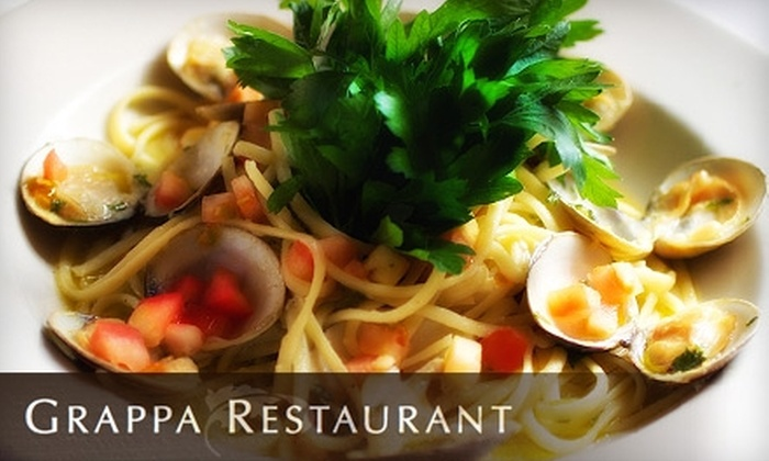 Grappa Restaurant - Watertown: $20 for $40 Worth of Traditional Italian Fare at Grappa Restaurant in Watertown