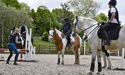 image for Horse Riding Experience with Hot Chocolate and Cake at Trent Park Equestrian Centre (Up to 61% Off)