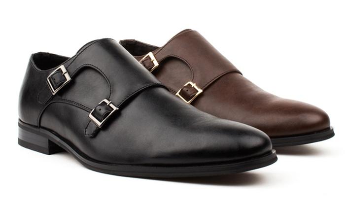 Vincent Cavallo Men's Monk Strap Dress Shoes