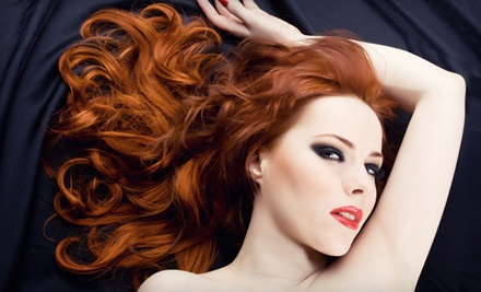 Haircut, Blow-Dry Style, and Partial Highlights (a $100 value) - Salon Eleganza in Plainville