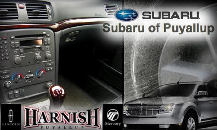 Harnish Lincoln Mercury / Subaru of Puyallup - Puyallup: $75 for a Full Car Detail at Harnish Lincoln Mercury of Puyallup
