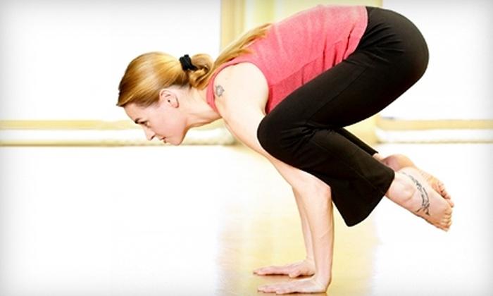 Pioneer Valley Yoga - Longmeadow: $49 for One Month of Unlimited Yoga Classes at Pioneer Valley Yoga in Longmeadow ($99 value).