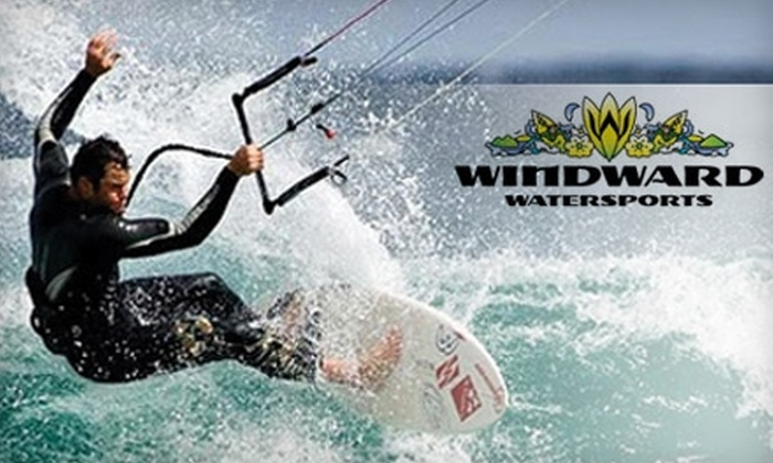 Windward Watersports - Kailua: $75 for Kiteboarding Lesson ($150 Value) or $24 for Self-Guided Kayak Eco-Tour ($49 Value) at Windward Watersports